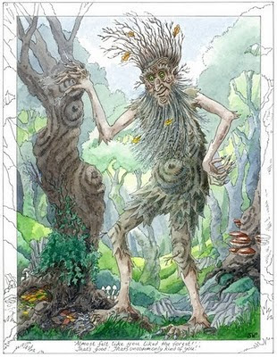 Treebeard - painting by Sue Wookey