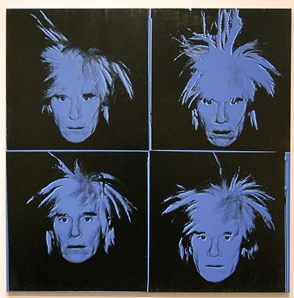 Andy Warhol self portrait from 1986
