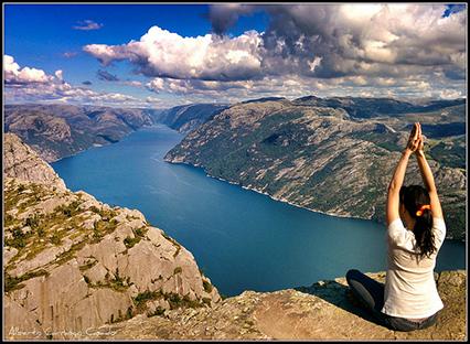 Preikestolen; a spectacular place in Norway